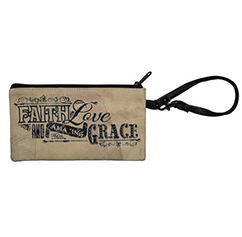 Amazing Grace Leather Wristlet