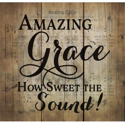 Amazing Grace Pine Wood Plaque - Atrio Hill