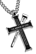 Armor Of God Black Established Cross Necklace