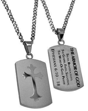 Armor Of God Shield Cross Necklace