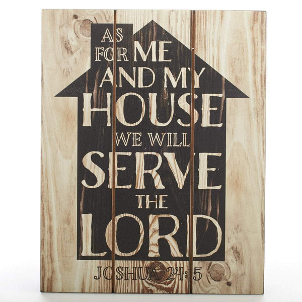 As For Me And My House Joshua 24:14 Wall Plaque