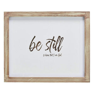 Be Still and Know That I Am God  Wall Plaque - Atrio Hill