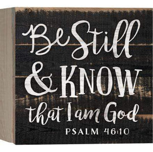Be Still & Know Pallet Decor Plaque