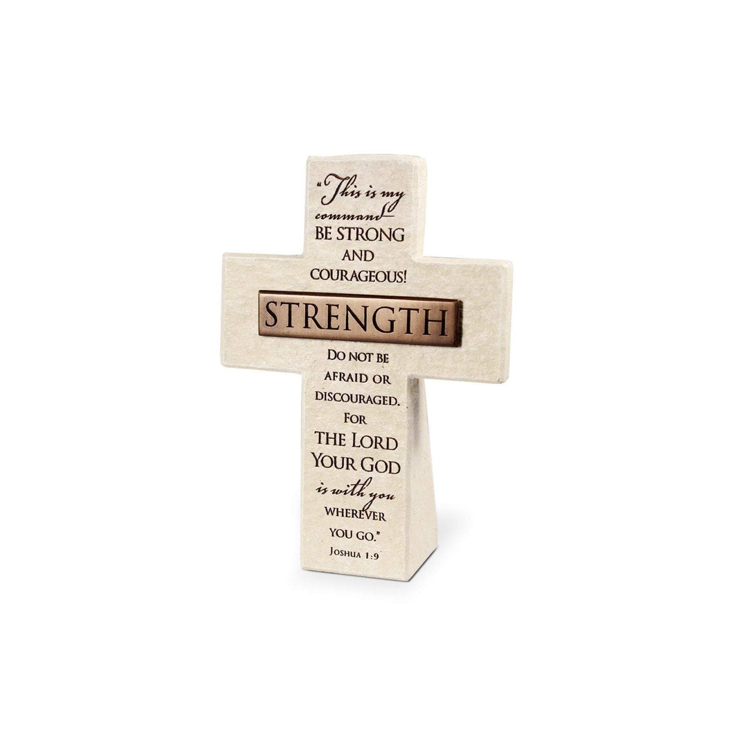 Be Strong And Courageous Joshua 1:9 Desktop Cross