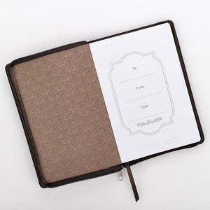 Be Strong And Courageous Joshua 1:9 Journal With Zipper Closure - Atrio Hill