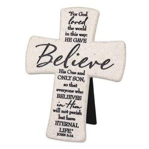 Believe John 3:16 Desktop Cross