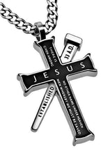 Black Established Cross Necklace Jesus