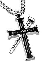 Black Established Cross Necklace Not Ashamed