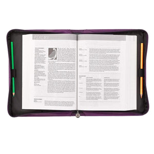 Blessed Bible Cover In Purple