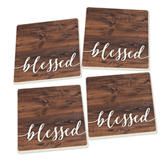 Blessed Ceramic Coasters