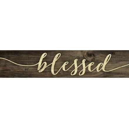 Blessed Farmhouse Wood Plaque