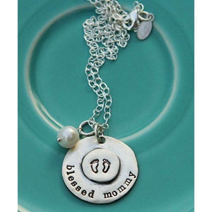 Blessed Mommy Pewter Necklace