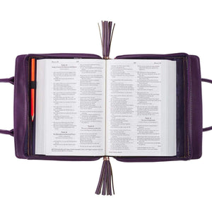 Blessed Purple Floral Bible Cover