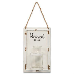Blessed Small Wall Vase