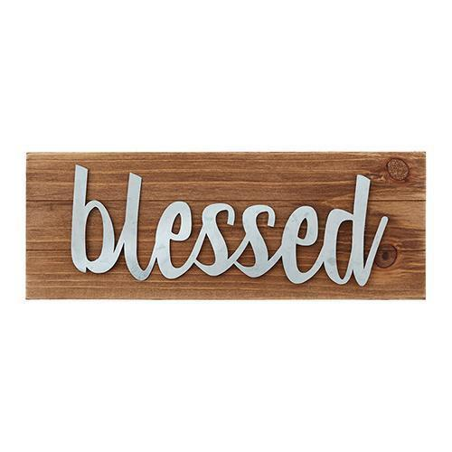 Blessed Tabletop Wood Plaque