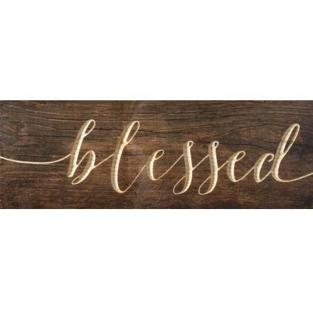 Blessed Wood Plaque