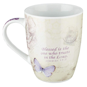 Butterfly Blessed Jeremiah 17:7 Coffee Mug