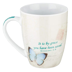 Butterfly Grace Ephesians 2:8 Coffee Mug - Atrio Hill