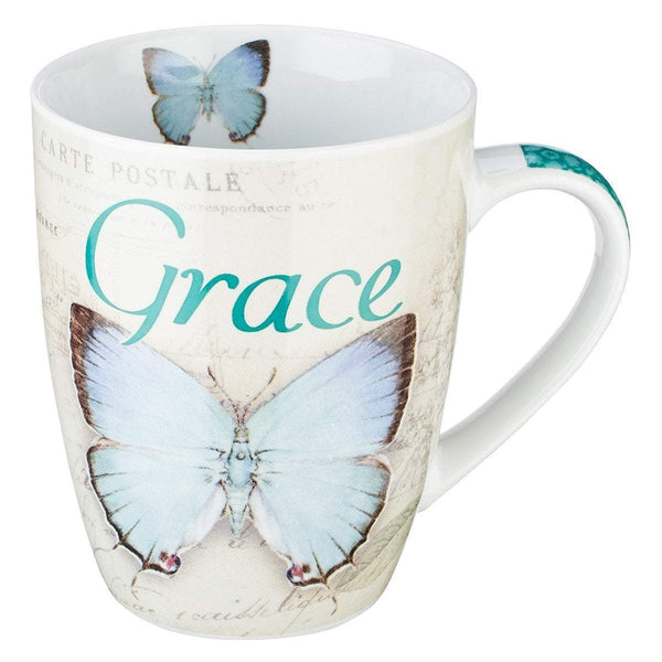 Butterfly Grace Ephesians 2:8 Coffee Mug