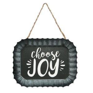 Choose Joy Fluted Tin Wall Sign - Atrio Hill