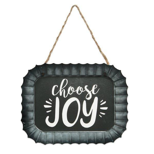 Choose Joy Fluted Tin Wall Sign