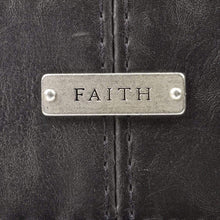 Classic Black Bible Cover With Faith Badge