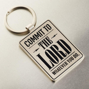 Commit To The Lord Bible Verse Keychain