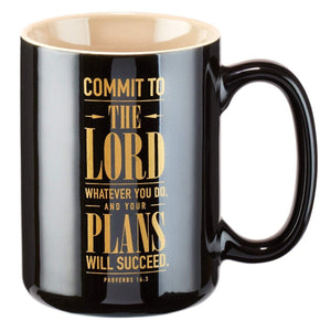 Commit To The Lord Proverbs 16:3 Coffee Mug