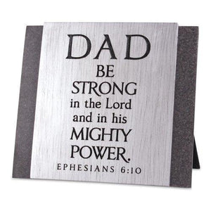 Dad Strong Cast Stone Plaque