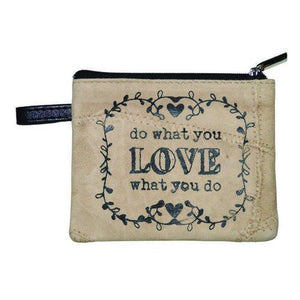 Do What You Love Leather Coin Purse
