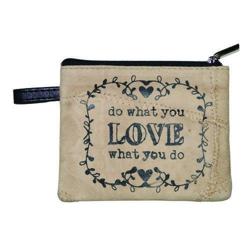 Do What You Love Leather Coin Purse - Atrio Hill