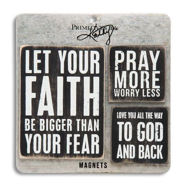 Faith Prayer Magnet Set