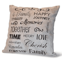 Family Leather Pillow