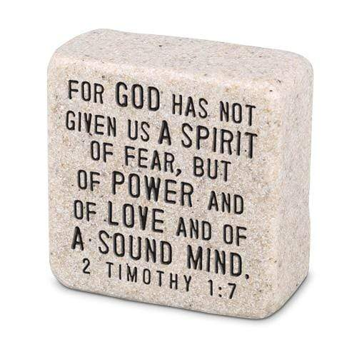 Fearless Scripture Stone 2 Timothy 1:7