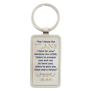 For I Know The Plans I Have For You Jeremiah 29:11 Keychain