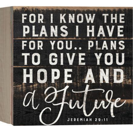 For I Know The Plans I Have For You Wood Box Plaque