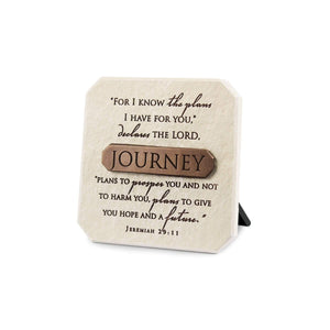 For I Know The Plans Jeremiah 29:11 Desktop Plaque