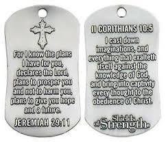 For I Know The Plans - Jeremiah 29:11 Dog Tag Necklace