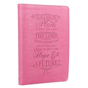 For I Know The Plans Jeremiah 29:11 Journal Pink