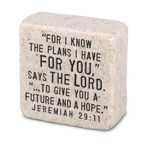 For I Know The Plans Scripture Stone