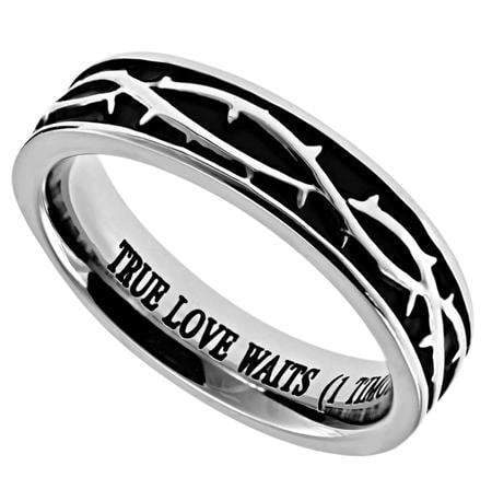 Girl's Crown Of Thorns Purity Ring True Love Waits