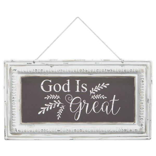 God Is Great Tin Wall Sign - Atrio Hill