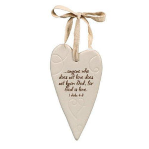 """God Is Love"" Heart Ornament"