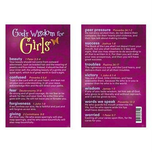 God's Wisdom For Girls (pack of 6)