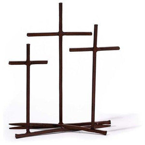 Golgotha Three Crosses Nail Tabletop Cross