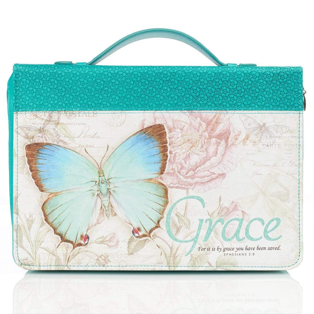 Grace Bible Cover In Teal