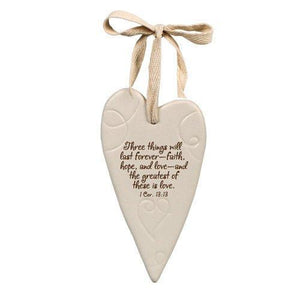 """Greatest Is Love"" Heart Ornament"