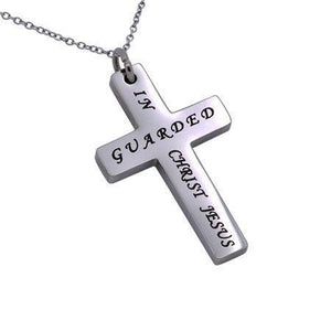 Guarded In Christ Simplicity Cross Necklace