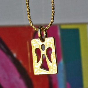 Guardian Angel 14K Gold Vermeil Necklace