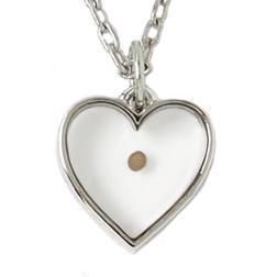 Heart Mustard Seed Necklace